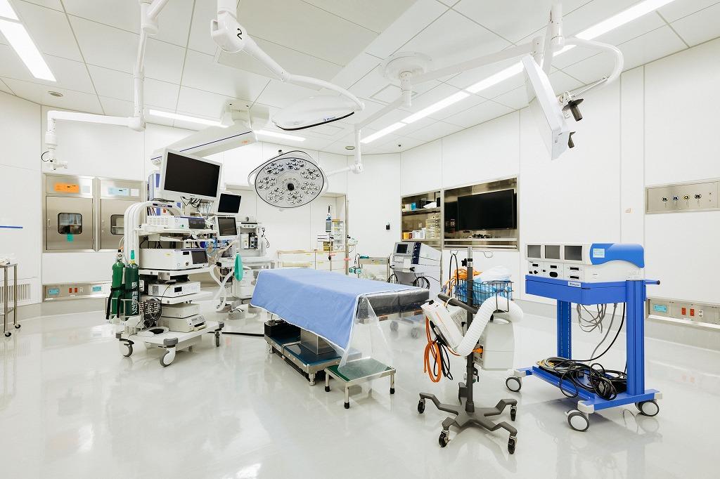 腹腔鏡の手術を行う部屋