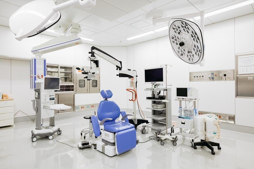 白内障の手術を行う部屋